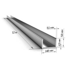 Швеллер 14П длинна 12м ГОСТ 8240/ТУ Ст3пс/сп5