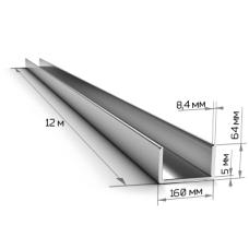 Швеллер 16П длинна 12м ГОСТ 8240/ТУ Ст3пс/сп5