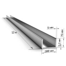 Швеллер 20П длинна 12м ГОСТ 8240/ТУ Ст3пс/сп5