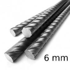 Арматура 6 мм рифленая длинна 6м.
